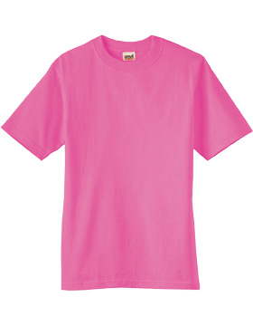 Anvil T-Shirt Ultra 100% Cotton Youth 905B Tropical Pink