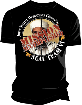 T-ST6-001 Mission Accomplished OBL T-Shirt Black