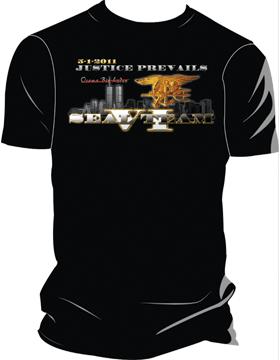 T-ST6-003 Justice Prevails OBL T-Shirt Black