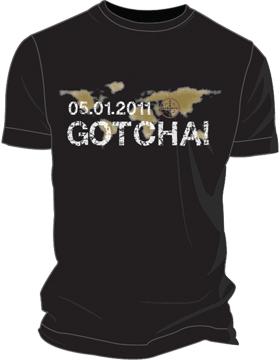 T-ST6-006 GOTCHA! OBL T-Shirt Black