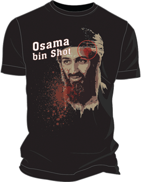 T-ST6-007 Osama bin Shot OBL T-Shirt Black