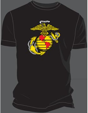 Marines Globe and Anchor Design, Black, Cotton