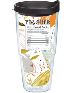 Teacher Nutritional Facts Insulated Tumbler