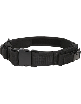 Tactical Belt Black Adjustable up to 44in