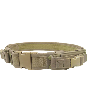 Tactical Belt Tan Adjustable up to 44in