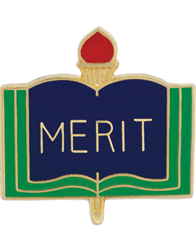 Enameled School Pin, Merit, Open Book