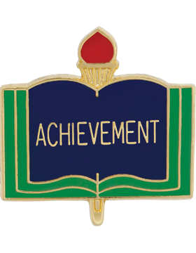 Enameled School Pin, Achievement, Open Book