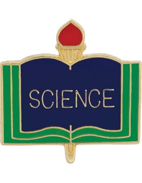 Enameled School Pin, Science, Open Book