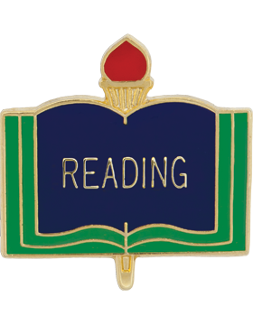 Enameled School Pin, Reading, Open Book