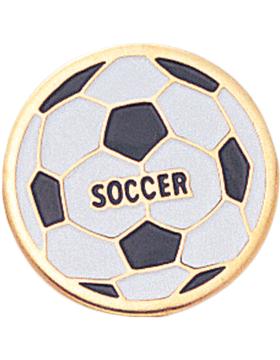 Enameled Sports Pin, Soccer