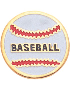 Enameled Sports Pin, Baseball