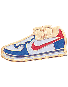 Enameled Sports Pin, Cross Country Shoe