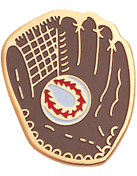 Enameled Sports Pin, Baseball Glove