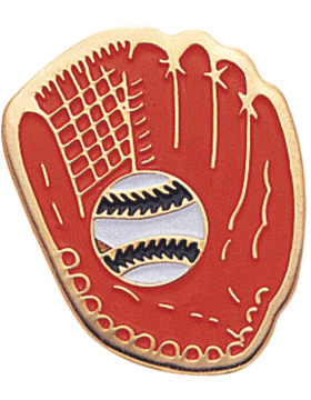 Enameled Sports Pin, Softball Glove