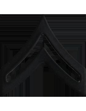 Police Rank (U-102B) Corporal Black 3/4