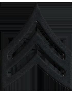 Police Rank (U-103B) Sergeant Black 3/4