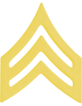 Police Rank (U-103G) Sergeant Gold 3/4in (Army)