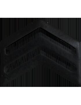 Police Rank (U-107B) Sergeant Black 3/4