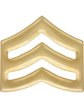 Police Rank (U-112G) Sergeant Gold 3/4in Small