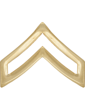 Police Rank (U-116A-G) Corporal Gold 1in Large (Army)