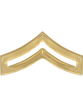 Police Rank (U-116P-G) Corporal Gold 1in Large