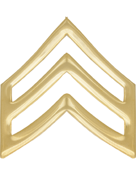 Police Rank (U-117A-G) Sergeant Gold 1in Large (Army)