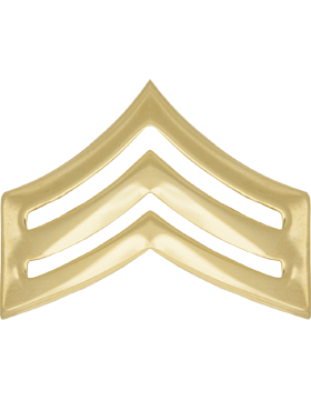 Police Rank (U-117P-G) Sergeant Gold 1in Large