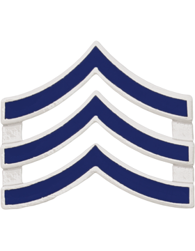 Police Rank (U-122S) Sergeant Blue Enamel Silver Finish