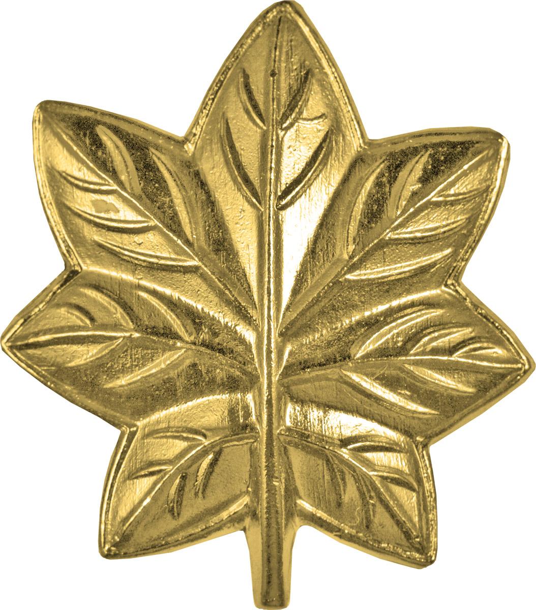 Police Rank (U-203G) Oak Leaf (MC Major) Gold