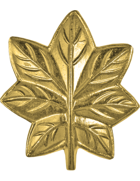 Police Rank (U-203G) Oak Leaf (MC Major) Gold