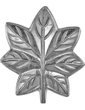 Police Rank (U-203S) Oak Leaf (MC Lieutenant Colonel) Silver
