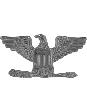 Police Rank (U-204S-SP) Colonel (Eagles) Silver Pin Back