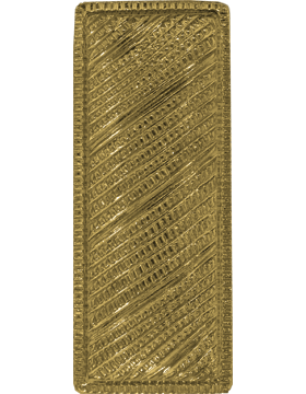 Police Rank (U-221G-SP) Lieutenant Bar Corregated Gold Pin Back