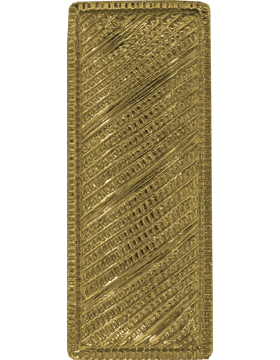 Police Rank (U-221G) Lieutenant Bar Corregated Gold