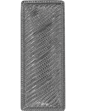 Police Rank (U-221S) Lieutenant Bar Corregated Nickel