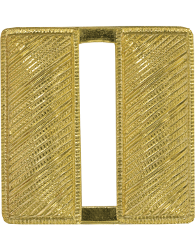 Police Rank (U-222G-SP) Captain Bars Corregated Gold Pin Back