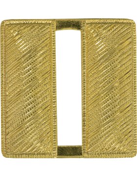 Police Rank (U-222G) Captain Bars Corregated Gold