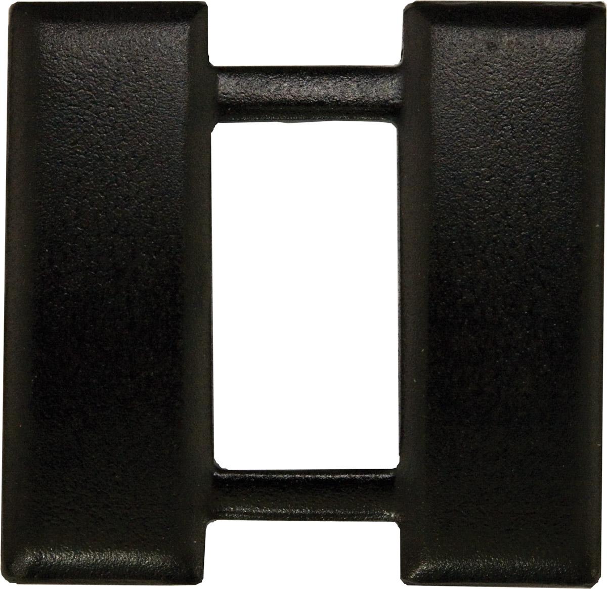 Police Rank (U-252B) Captain Bars Black (Miniature) 3/4