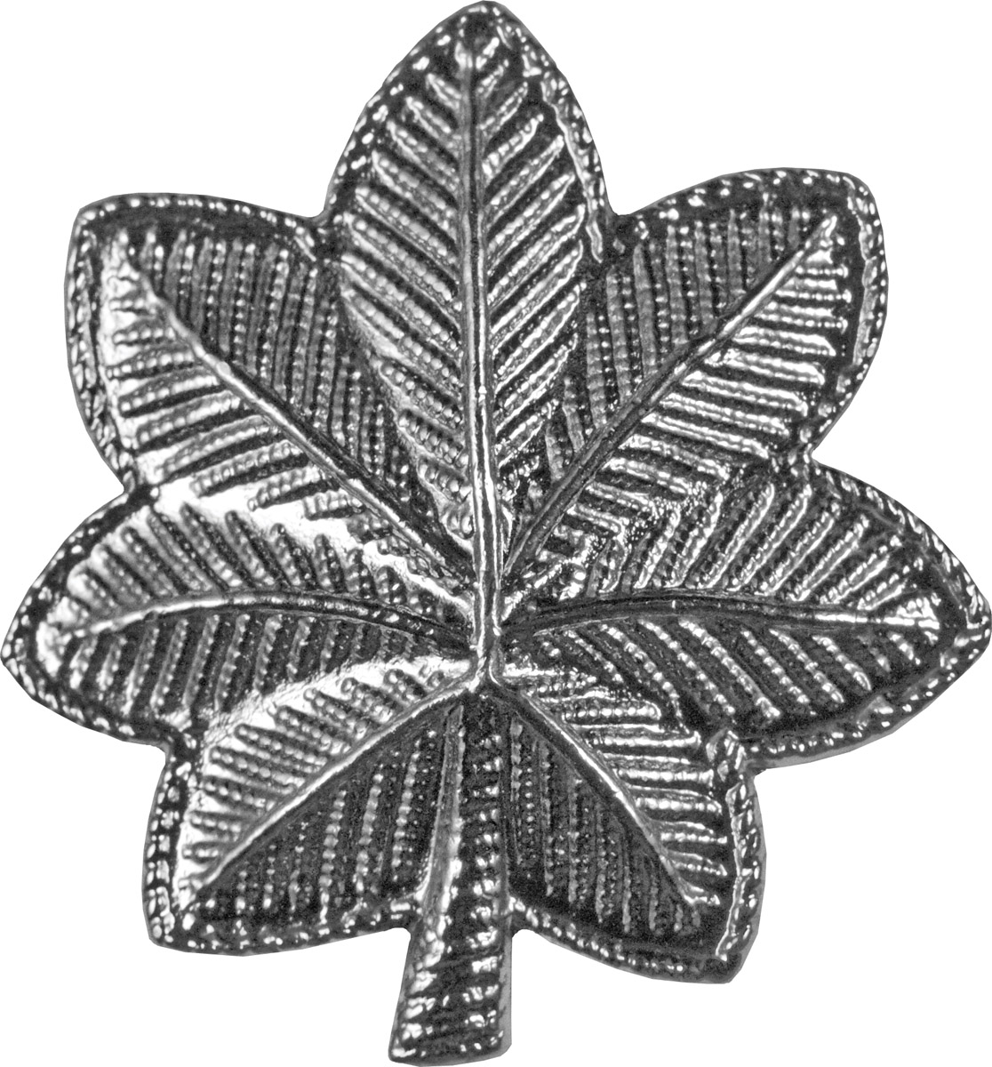 Police Rank (U-253S) Lieutenant Colonel Oak Leaf Silver