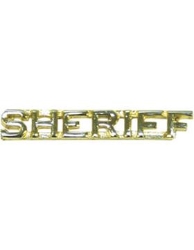 Tie Tac (U-527G) Sheriff Gold 1/4
