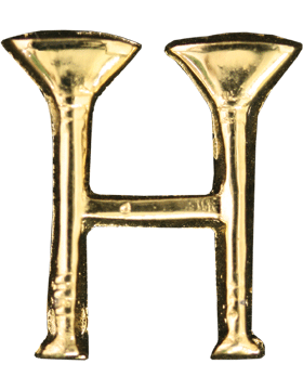 Collar Device U-602G Two Bugles Parallel Gold (Pair)