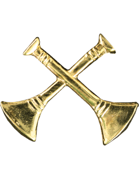 Collar Device U-603G Two Bugles Crossed Gold (Pair)