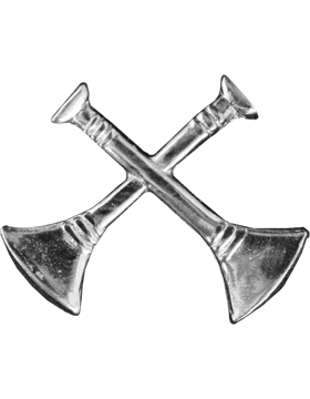 Collar Device U-603S Two Bugles Crossed Silver (Pair)