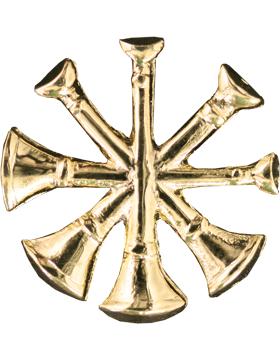 Collar Device U-605G Four Bugles Gold (Pair)
