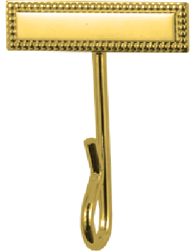 Bar Whistle Hook (U-930G) Gold