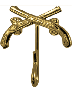 Crossed Pistol Hook (U-931G) Gold