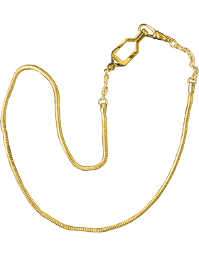 Snake Chain with Swivel and Button Hook (U-940G) Gold Packaged