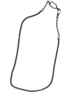 Snake Chain with Swivel and Button Hook (U-940S) Silver Packaged