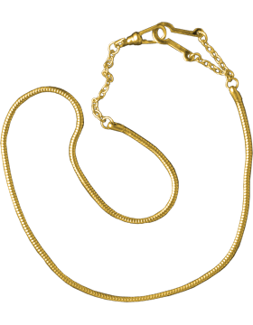 Snake Chain with Epaulet Hook (U-941G) Gold Packaged