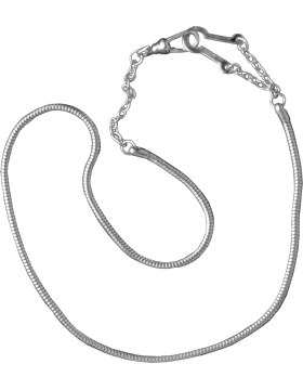 Snake Chain with Epaulet Hook (U-941S) Silver Packaged